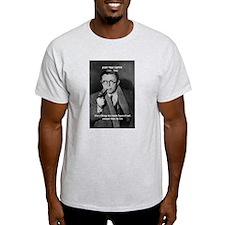 Existentialist Jean-Paul Sartre Ash Grey T-Shirt