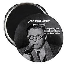 Existentialist Jean-Paul Sartre Magnet