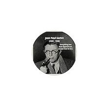Existentialist Jean-Paul Sartre Mini Button (100 p