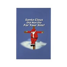 Santa Cross Rectangle Magnet