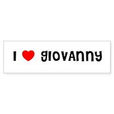 I LOVE GIOVANNY Bumper Bumper Sticker