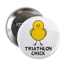 """Triathlon Chick 2.25"""" Button (10 pack)"""