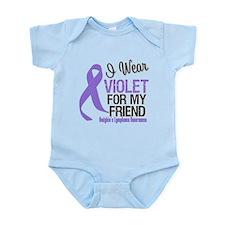 I Wear Violet For My Friend Infant Bodysuit