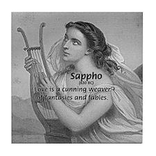 Love / Lyric Poetry: Sappho Tile Coaster