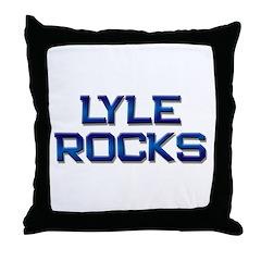 lyle rocks Throw Pillow