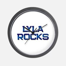 lyla rocks Wall Clock