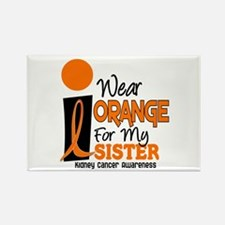 I Wear Orange For My Sister 9 KC Rectangle Magnet