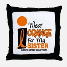 I Wear Orange For My Sister 9 KC Throw Pillow