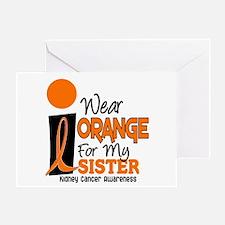 I Wear Orange For My Sister 9 KC Greeting Card