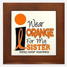 I Wear Orange For My Sister 9 KC Framed Tile