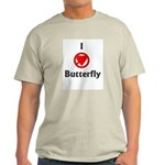 I Hate Butterfly Ash Grey T-Shirt