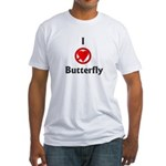 I Hate Butterfly Fitted T-Shirt