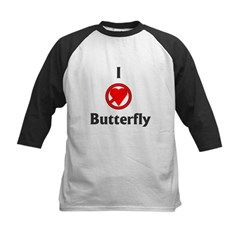 I Hate Butterfly Kids Baseball Jersey
