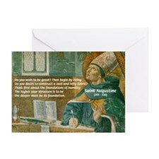Saint Augustine of Hippo Greeting Cards (Package o