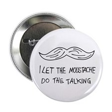 "Moustache 2.25"" Button"