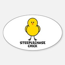 Steeplechase Chick Oval Decal