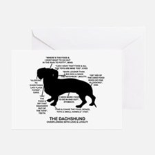 Dachshund Chart Greeting Card