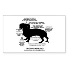 Dachshund Chart Rectangle Decal
