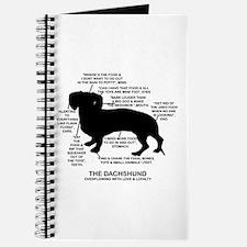 Dachshund Chart Journal