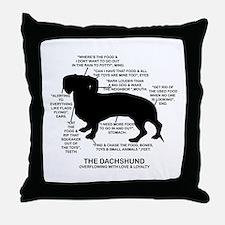 Dachshund Chart Throw Pillow