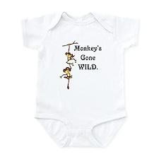 Monkey's gone wild Infant Bodysuit