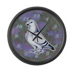 Show Racer Pigeon Large Wall Clock