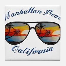 California - Manhattan Beach Tile Coaster