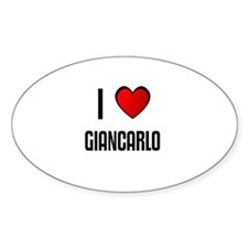 I LOVE GIANCARLO Oval Decal