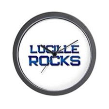 lucille rocks Wall Clock