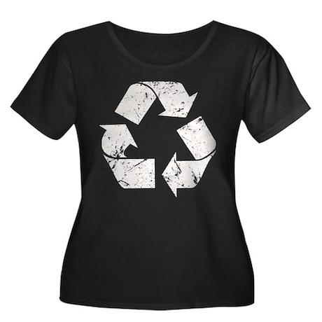 Vintage Recycle Women's Plus Size Scoop Neck Dark