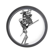 Books and Bones Wall Clock