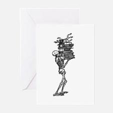 Books and Bones Greeting Cards (Pk of 20)
