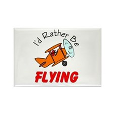 I'd Rather Be Flying Rectangle Magnet