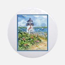 NANTUCKET LIGHTHOUSE Ornament (Round)