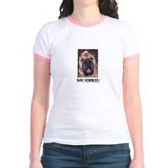 BAH HUMBUG HUMOROUS Jr. Ringer T-Shirt
