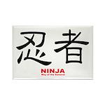 Samurai Ninja Kanji Rectangle Magnet (10 pack)