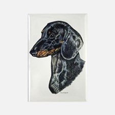 Dachshund Doxie Head Rectangle Magnet
