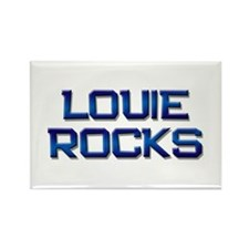 louie rocks Rectangle Magnet