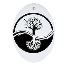 Reiki Tree Oval Ornament