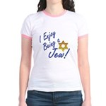 I Enjoy Being a Jew Jr. Ringer T-Shirt