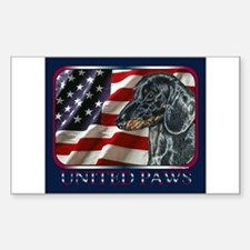 Dachshund Doxie Patriotic USA Flag Decal