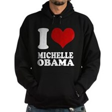 I heart Michelle Obama (clean Hoodie