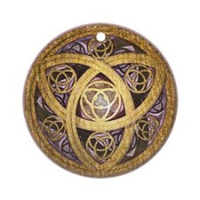 Celtic Sun Ornament (Round)