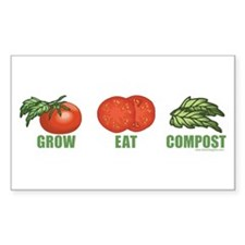Composting Rectangle Bumper Stickers
