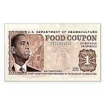 The Obama Food Stamp Rectangle Sticker 10 pk)