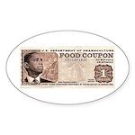 The Obama Food Stamp Oval Sticker (10 pk)