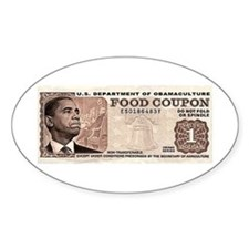 The Obama Food Stamp Oval Decal