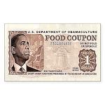 The Obama Food Stamp Rectangle Sticker