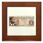 The Obama Food Stamp Framed Tile
