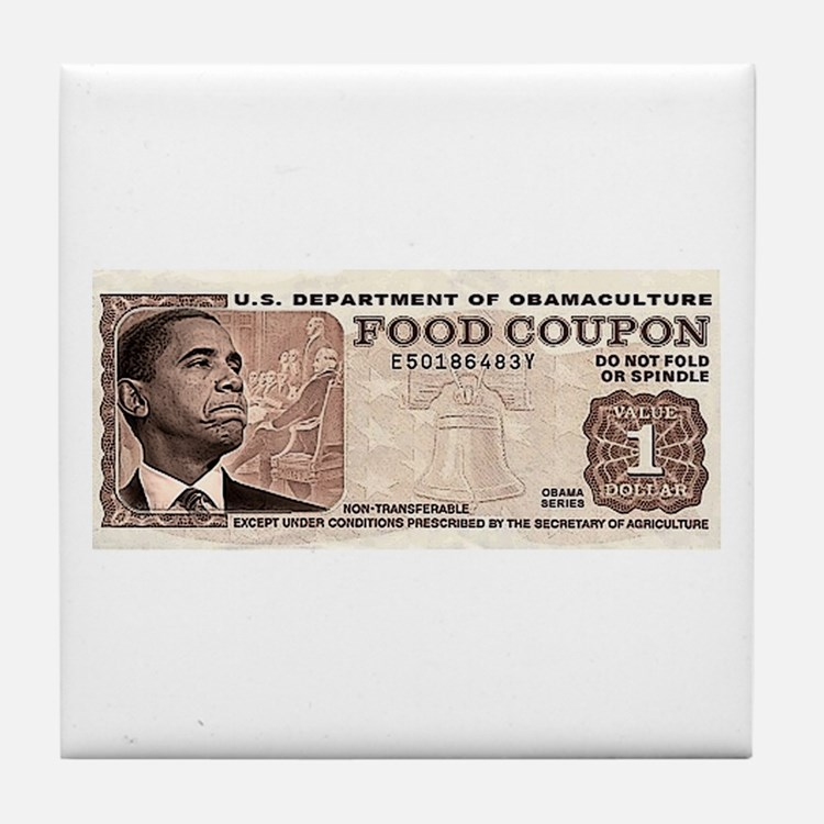 The Obama Food Stamp Tile Coaster